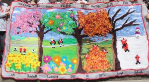 Large feltwork created by children in Key Stage One