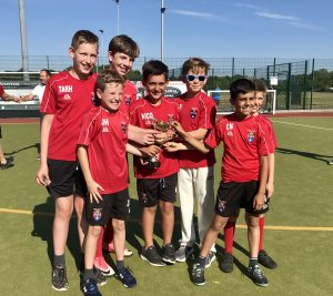 Ghyll Royd Sport - Boys Cricket winners pose with trophy