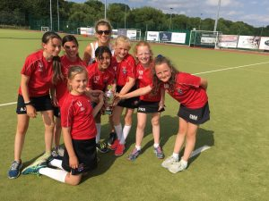 Ghyll Royd Sport - Girls Cricket team pose with winners trophy