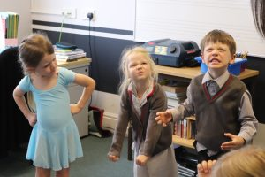 Early Years Ballet pupils acting angry