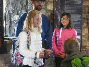 Ghyll Royd School pupils in shackles during Crime and Punishment workshop at Henry VII Experience