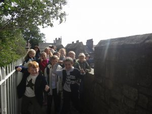 Ghyll Royd School pupils enjoy walking on York's city walls