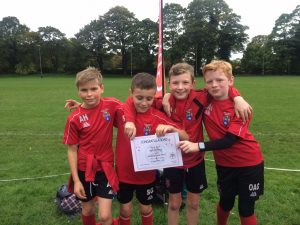 Ghyll Royd's Years 6 boys Cross Country runners