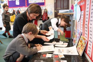 Ghyll Royd children searching for clues in fun science lesson