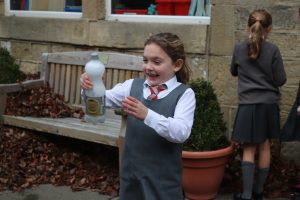 Ghyll Royd pupil enjoying science experiment