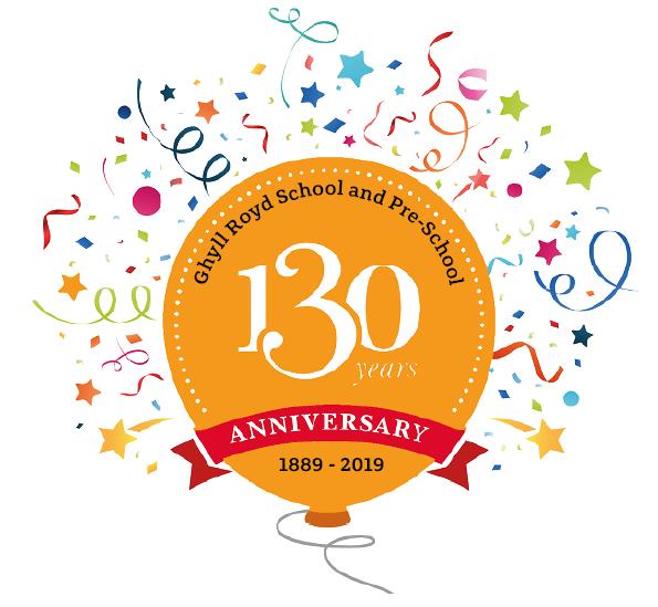 Ghyll Royd School anniversary balloon