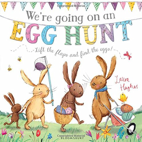We're going on an egg hunt. Bunnies collecting eggs