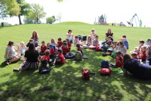Ilkley Nursery pupils enjoy picnic on the grass in Roundhay Park