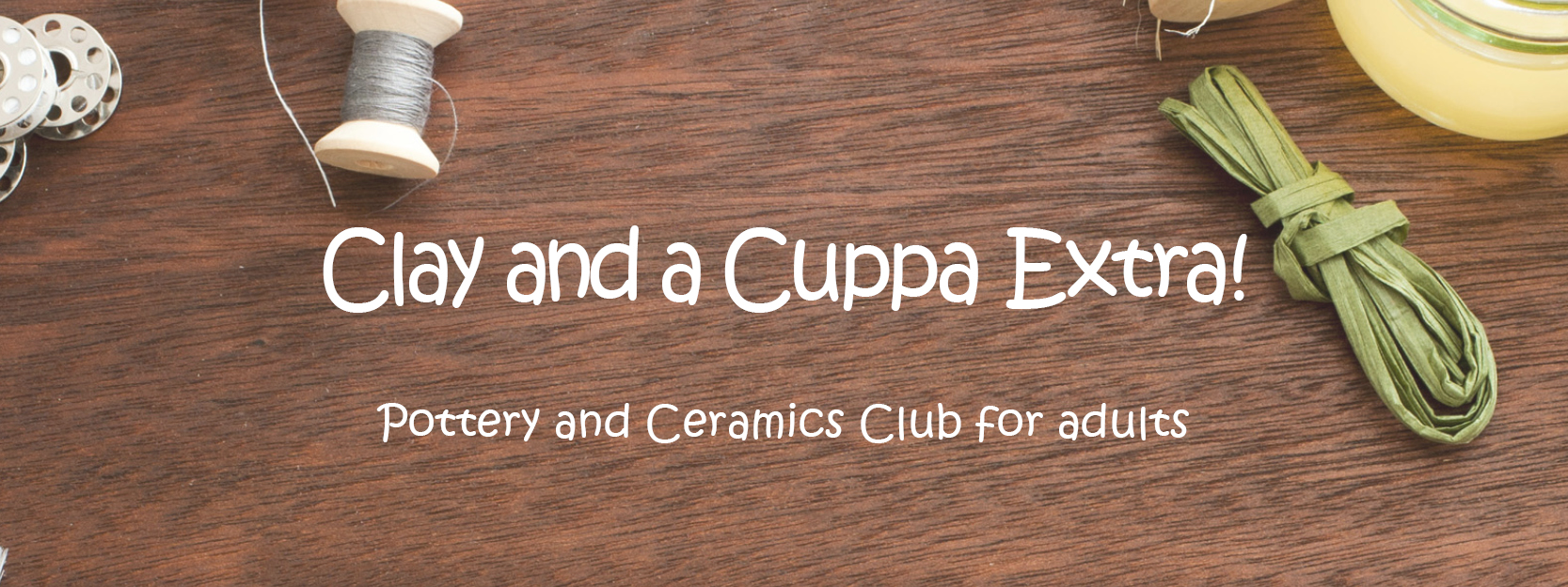 Header text image for Clay and a Cuppa