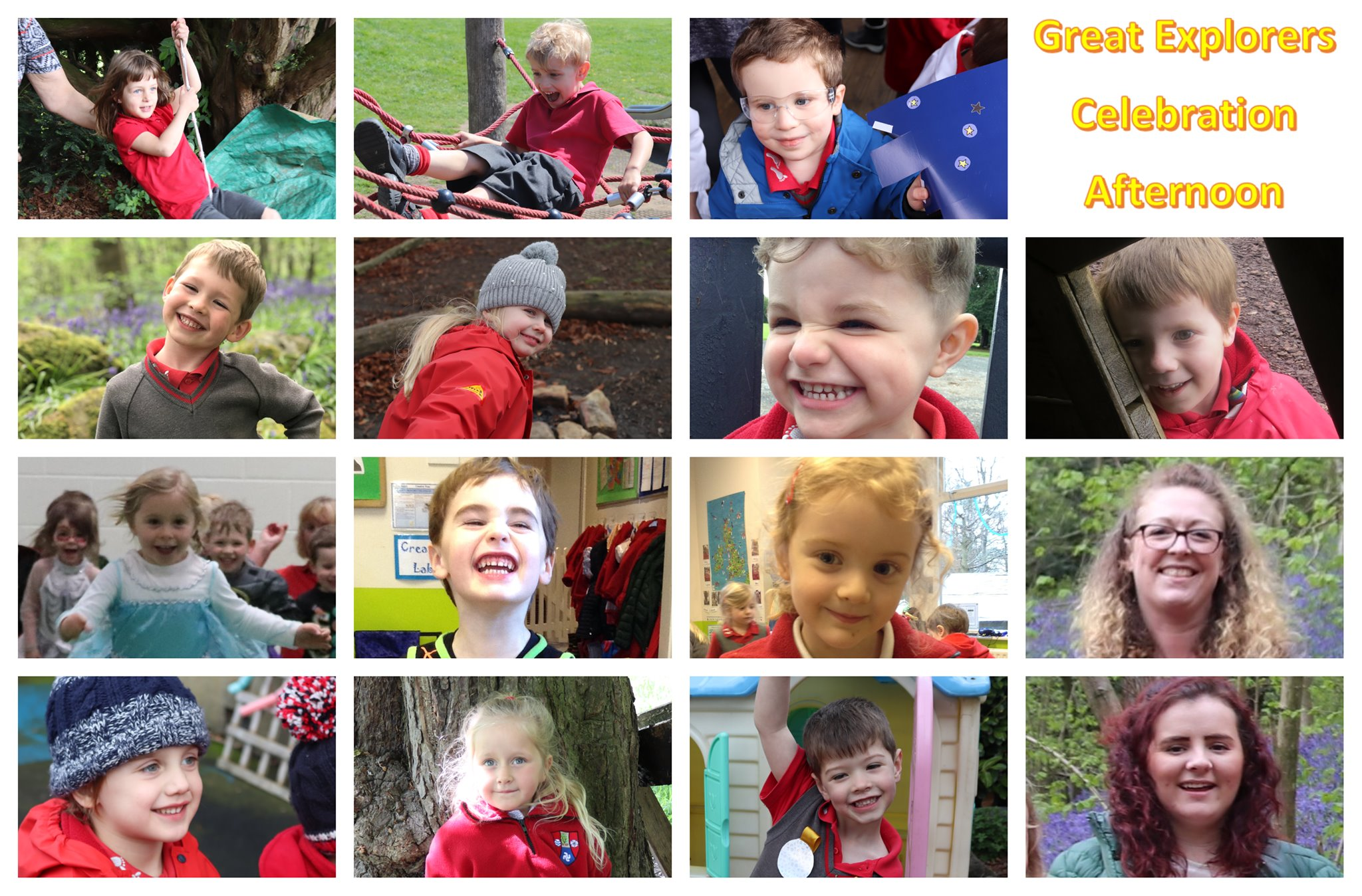 Smiling faces of Ghyll Royd Pre-School class