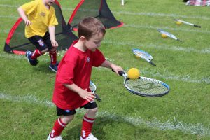 Ghyll Royd Pupil in obstacle course race on sports day