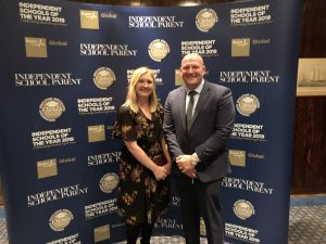 Ghyll Royd School's Communications Manager and Headteacher attended the Independent Schools of the Year awards in London
