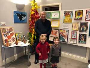 Local artist Ian Middleton at the local Wharfedale Art Competition