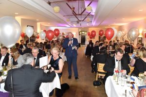 Ghyll Royd School's Headteacher David Martin compered the sold-out 130th Anniversary Ball at the Cavendish Pavilion.