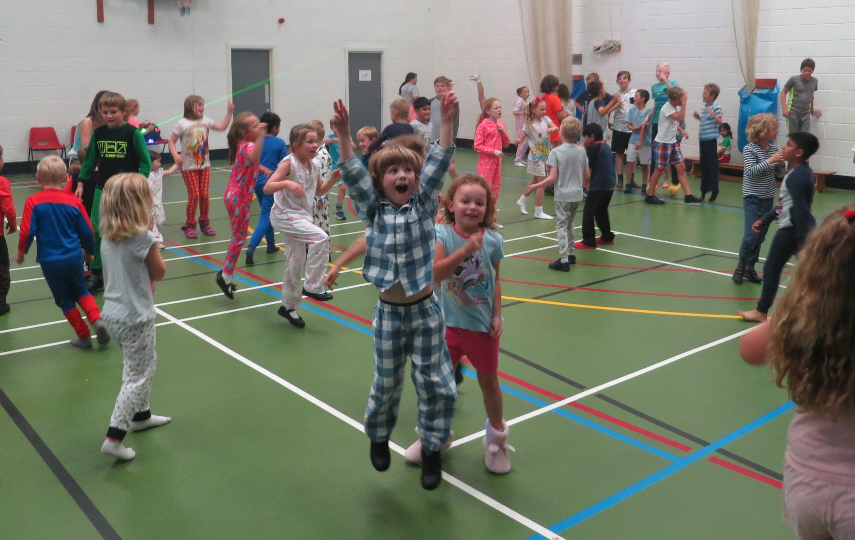 Children dancing at pyjama disco