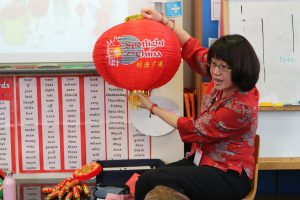 Ghyll Royd School were visited by a Chinese teacher called Miffy