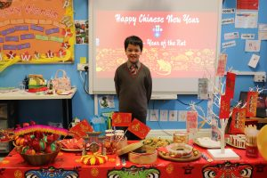 Ghyll Royd School pupil presenting Chinese New Year
