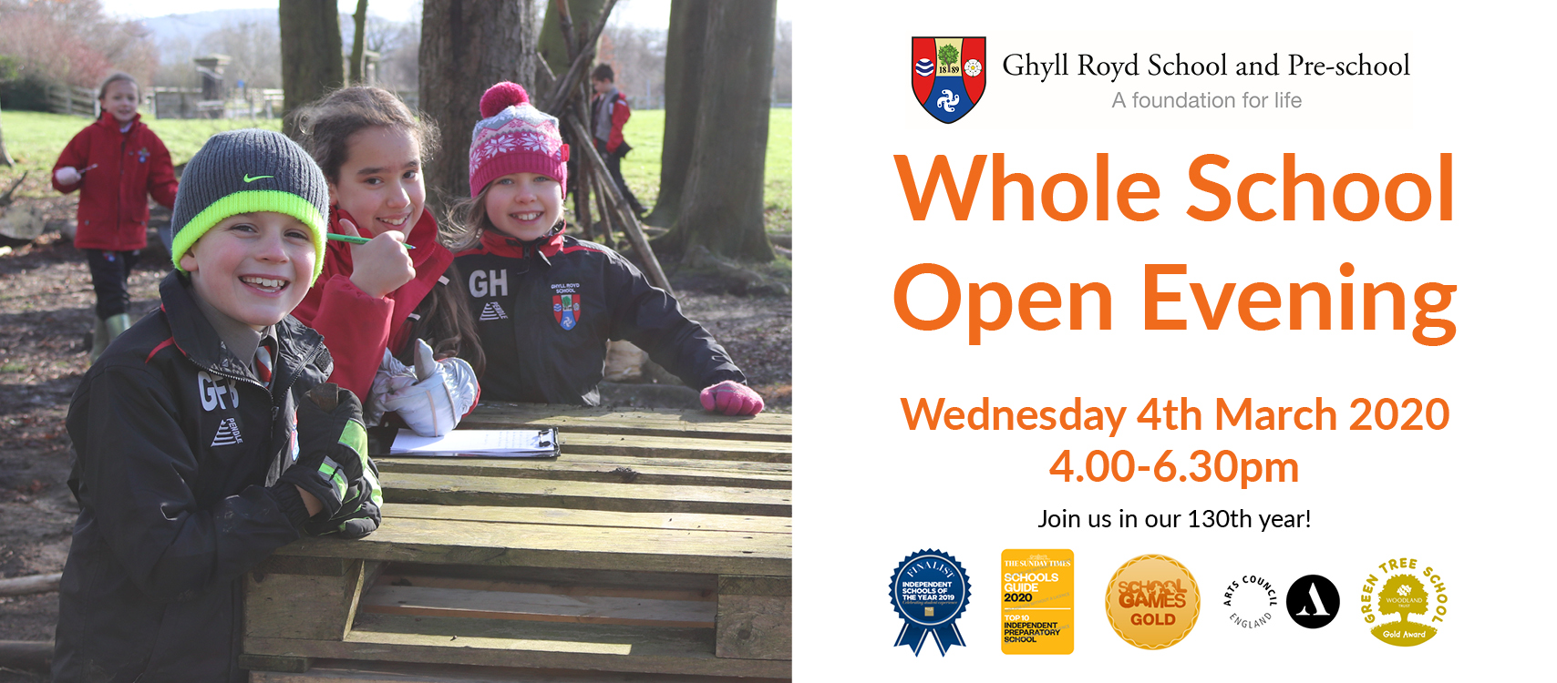 Whole School Open Day poster