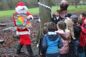 Santa visited Ghyll Royd School pupils for a fun filled day