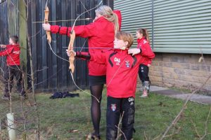 Outdoor learning at Ghyll Royd includes archery and bushcraft
